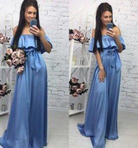 Платье небесно голубое все размеры