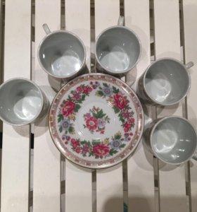 Набор чашек и блюдец для кофе