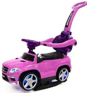 Машинка детская с ручкой Mercedes