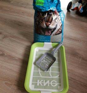 Лоток для кошки и наполнитель