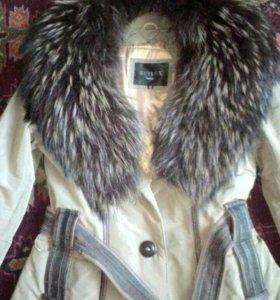 Куртка,воротник чернобурка