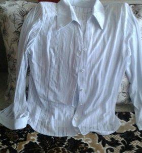 Блузка белая ,стрейчь