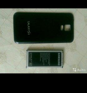 Накладка и батарея Самсунг S5