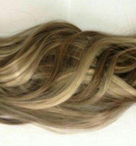 Мелированные волосы на заколках