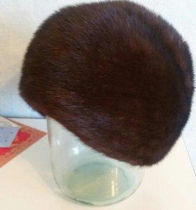 Норковая шапка б/у.