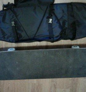 Скейт с сумкой