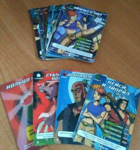 Карточки Черепашки-Ниндзя(боевая четвёрка)