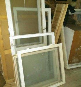 Окна деревянные б/у, двери