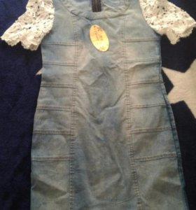 Платье джинс новое