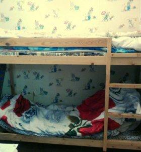 Детская двухяросная кровать
