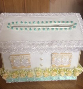 Домик для подарков на свадьбу