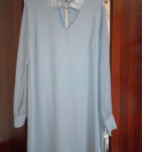 Платье, нежно голубого цвета.шифон.