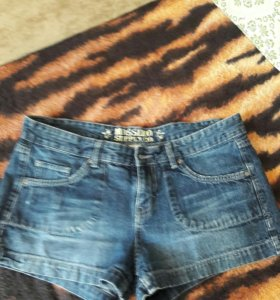 шорты джинс