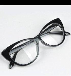 Стильные Очки с обычным стеклом. Не диоптрии!!!