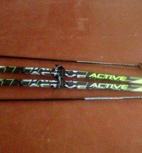 Лыжи active classic stc с креплением nn 75