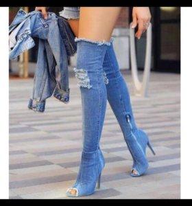 Ботфорты, джинсовые сапоги