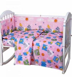 Детская кроватка(0-3 лет) с маятниковым механизмом
