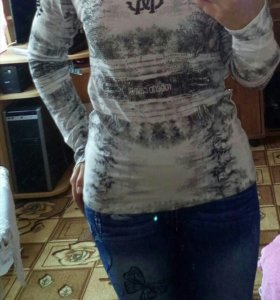 Берюзовая блузка