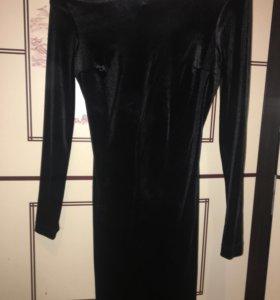 Бархатное платье S