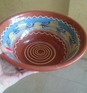 Блюдо из керамики