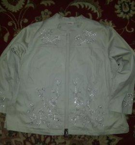 Куртка-пиджак ветровка большого размера