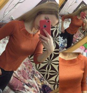 Лёгкий свитер лапша Zara