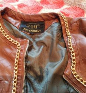 Куртка коричневая 40-42р