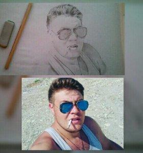 Рисую портреты!формата (А-4)