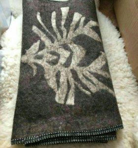 Валяный шерстяной коврик для бани/ для сна