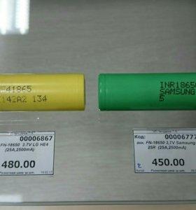 Аккумуляторы FN-18650 3.7V