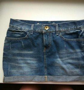 Джинсовая юбка 40-42