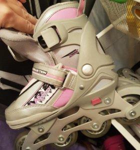 Ролики для девочки и шлем