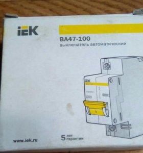 Автоматический выключатель IEK ВА47-100 1P 50A
