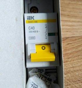 Автоматический выключатель ВА 47-100 1Р 40 А