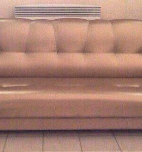 000147 новый диван книжка кожа от фабрики