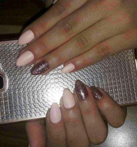 Маникюр,шеллак,Гелевое покрытие,Наращивание ногтей