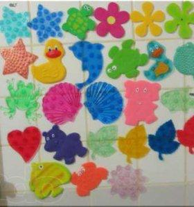 Детские мини коврики для ванной