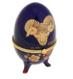 "яйцо-шкатулка ""Знак-зодиака"", керамика"
