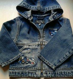 Джинсовая куртка на 1-2года