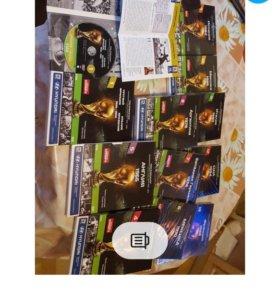 13 DVD дисков с обзорами чм по футболу