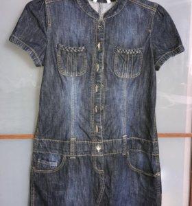 новое прекрасное джинсовое платье Clockhouse