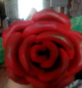 Настоящая кованная роза