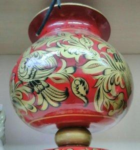 Деревянная ваза хохлома
