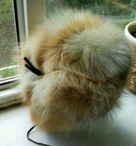 Продам мужскую шапку из меха лисы.