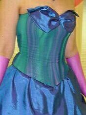 Корсет вечернее платье