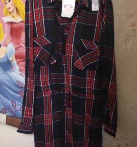 Платье- рубашка новая
