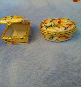 Коробки для украшений фарфор