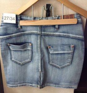 Юбка женская джинсовая размер 27