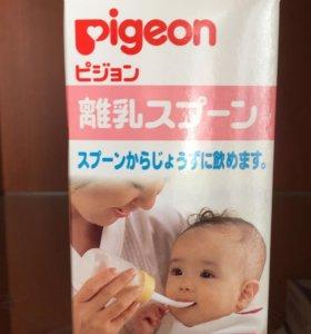 Бутылочка с ложкой pigeon