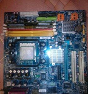 GIGABYTE GA-MA69VM-S2+процессор
